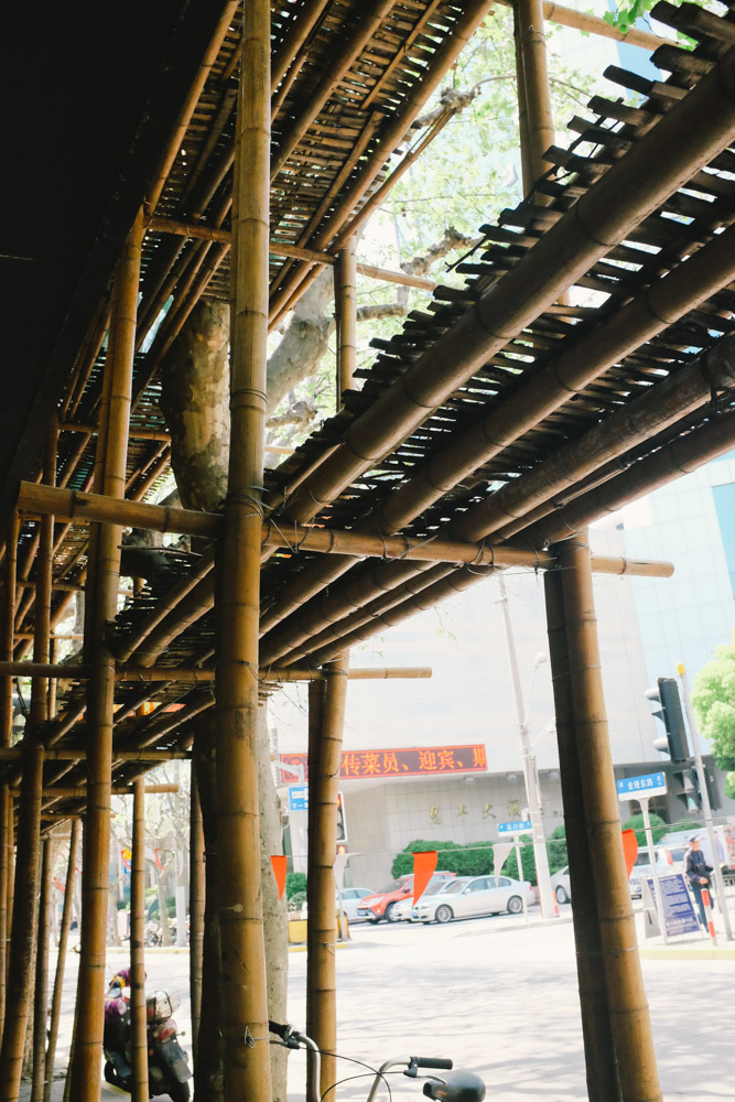 bamboo scaffolding. One of the chinese flavors in a globalized city